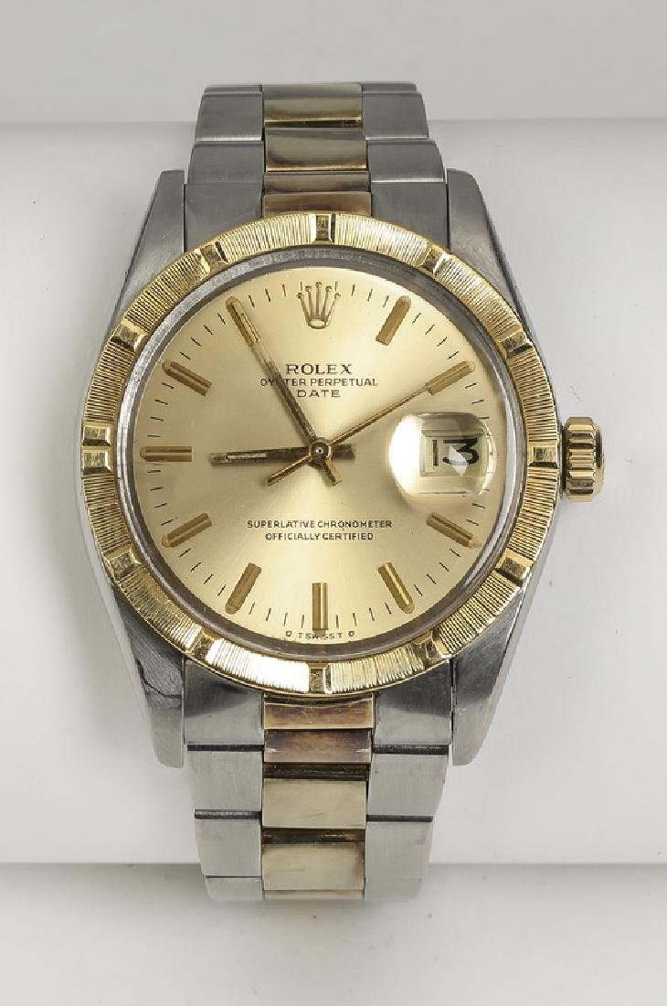 Rolex Oyster Perpetual date,14k & stainless, ca. 1975