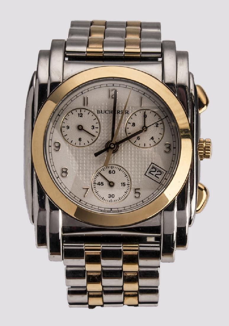 Men's Bucherer 18k & stainless chronograph