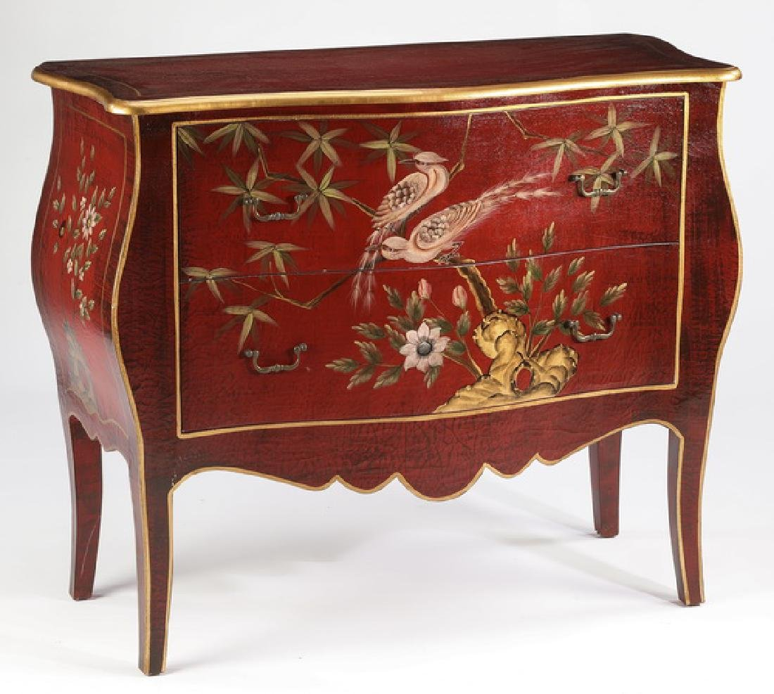 Paint-decorated Chinoiserie style commode