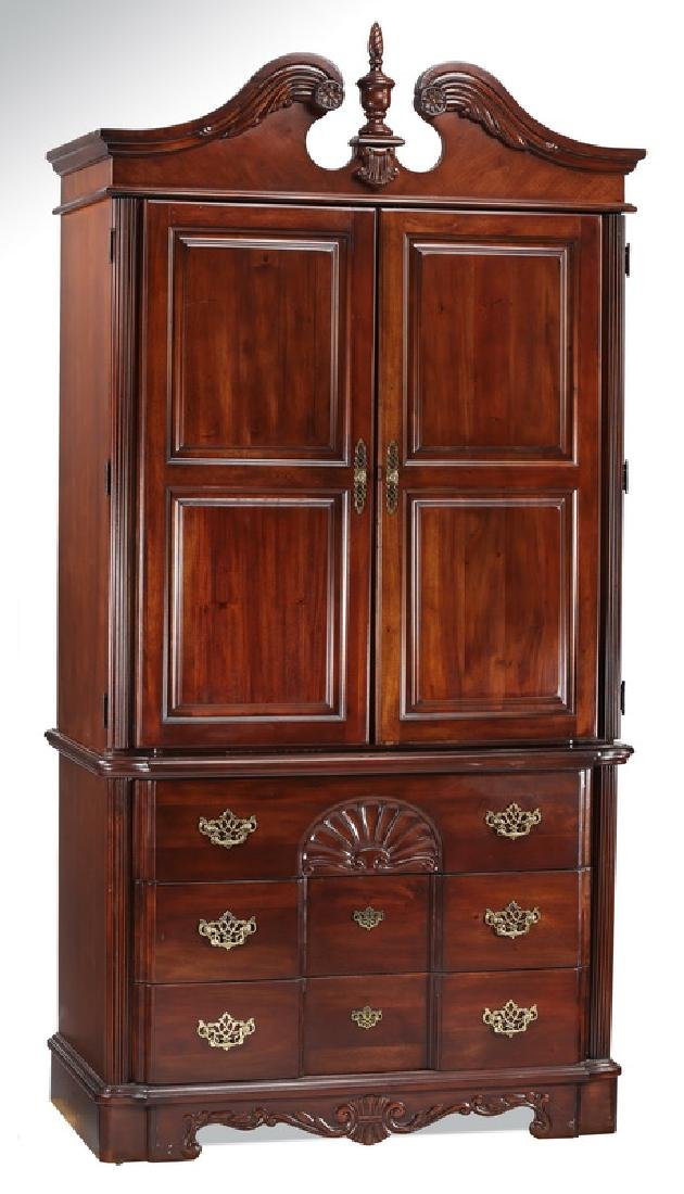 Federal style highboy armoire