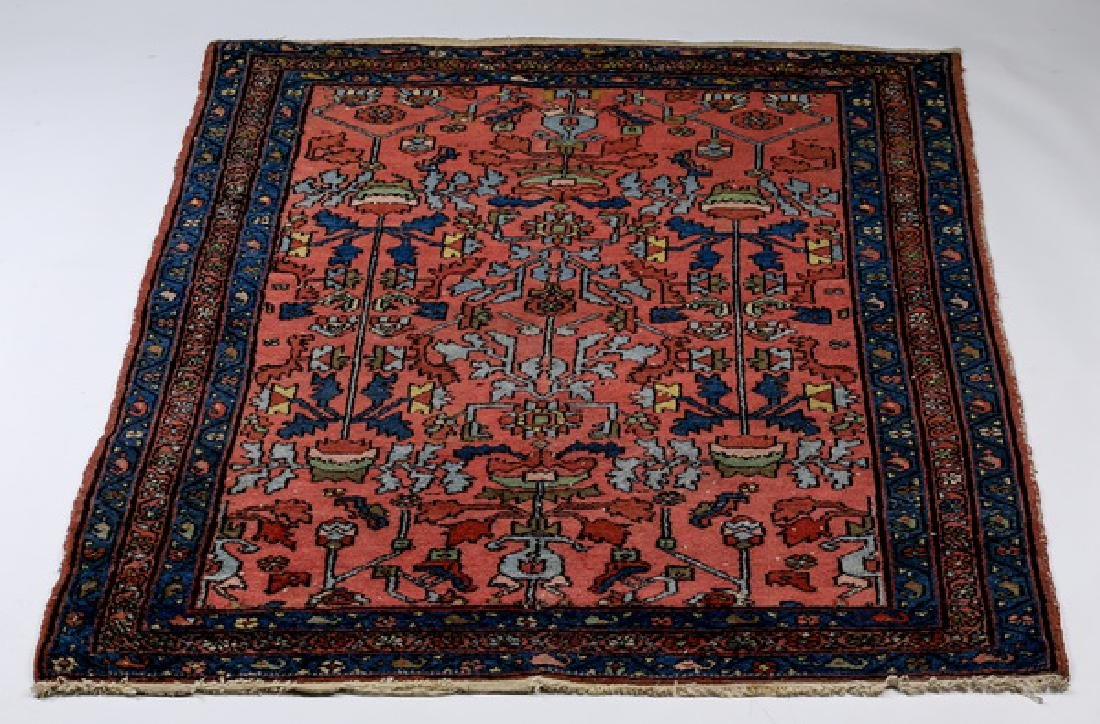19th c. hand knotted Persian Sarouk wool rug