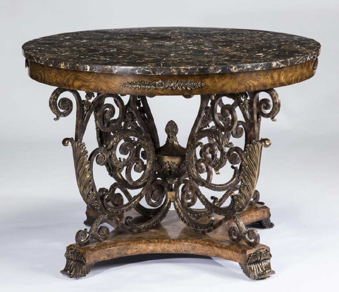 Maitland-Smith marble top center table