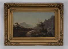 W.S. Young (American) signed O/c landscape, 19th c.