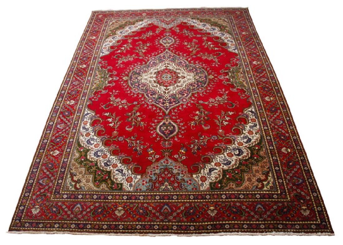 Oversized hand knotted wool rug, 16' long