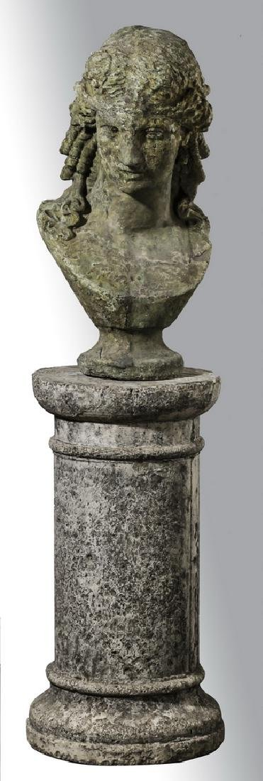"""Classical style bust of Venus with pedestal, 57""""h"""