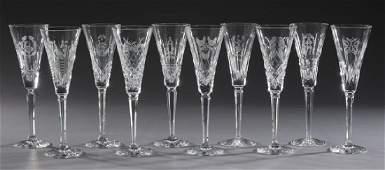 (10) Waterford crystal '12 Days of Xmas' stemware