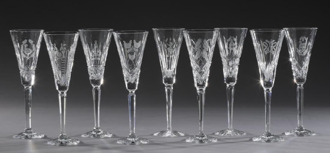 (9) Waterford crystal '12 Days of Xmas' stemware