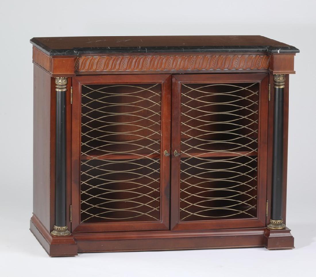 Mahogany marble top cabinet