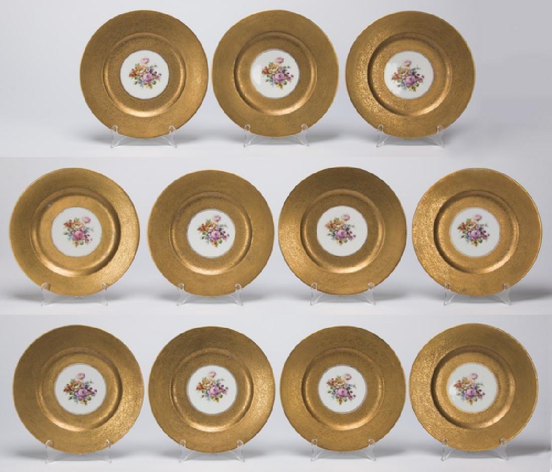 Set of 11 Bavarian porcelain cabinet plates