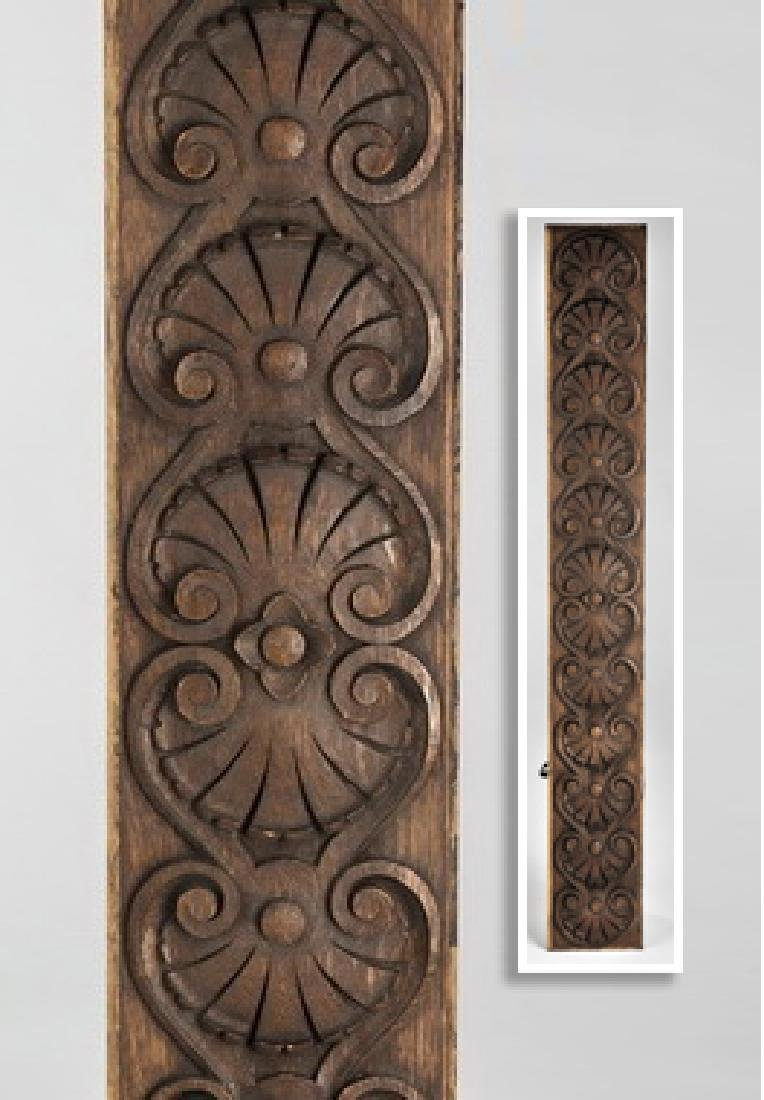 Early 20th c. carved architectural panel w/ anthemion