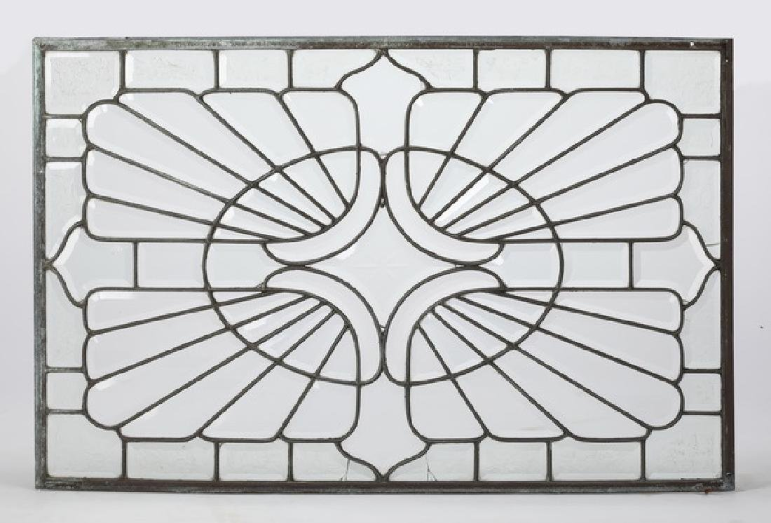 Early 20th c. beveled and leaded glass panel