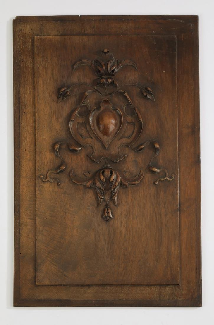 19th c. Continental carved architectural panel