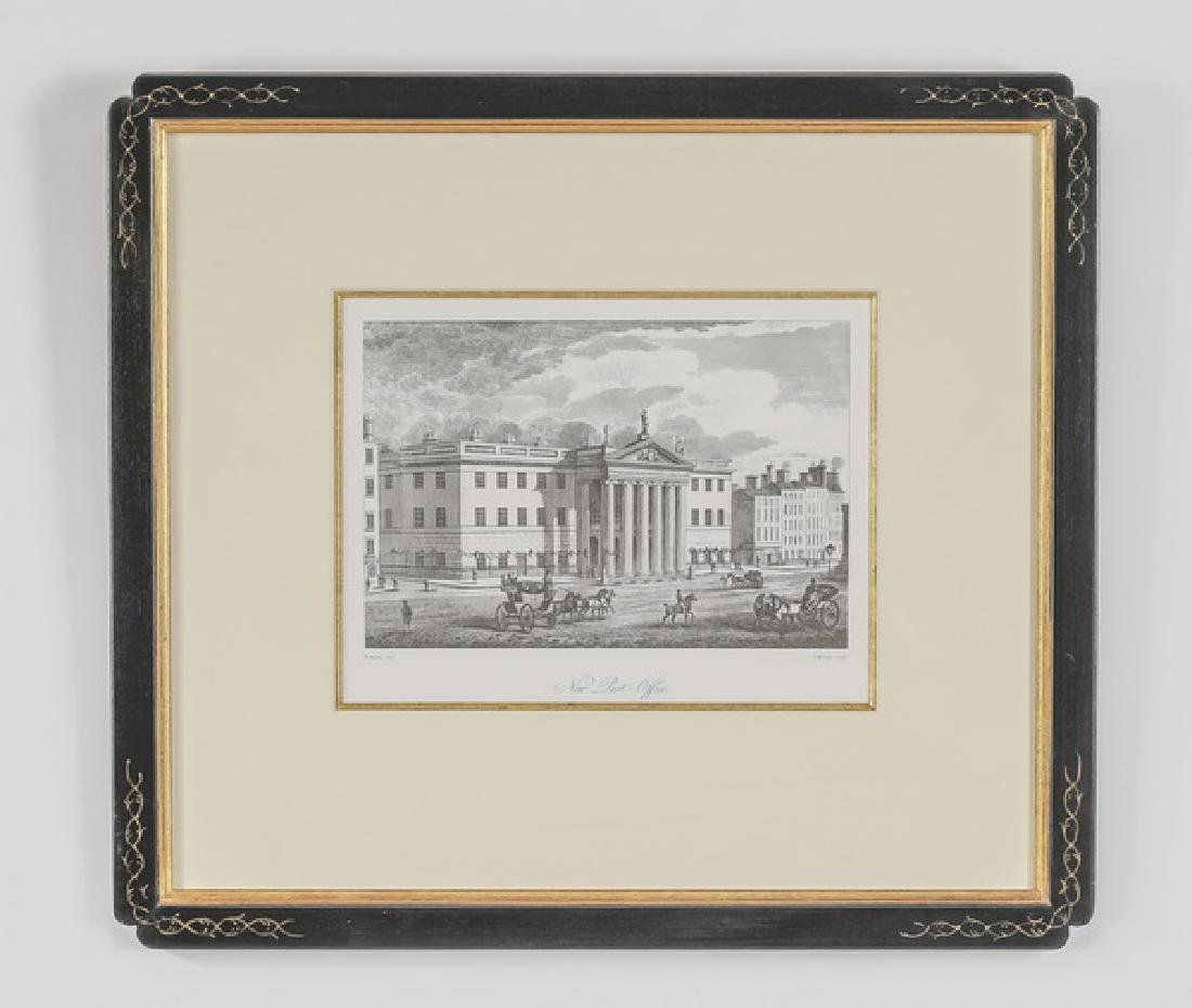 19th c. English engraving of post office in Dublin