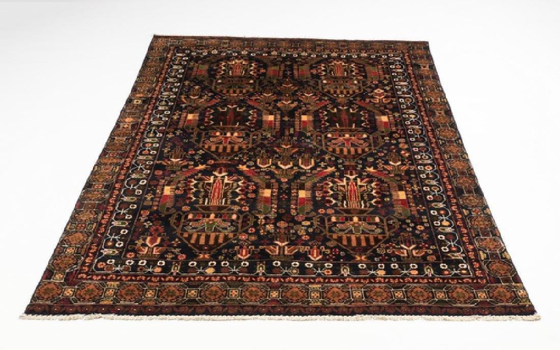 Hand knotted Pakistani Mahabad wool rug, 9 x 7