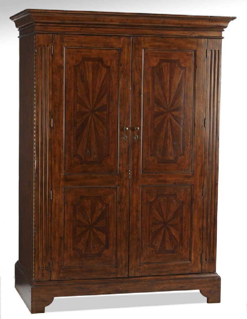 Federal inspired armoire w/ paint decorated paterae