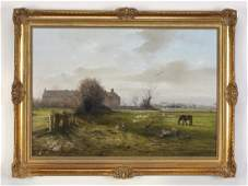 British O/b depicting farmyard scene, signed 'Mace'