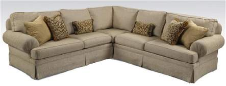 Contemporary cream upholstered sectional sofa