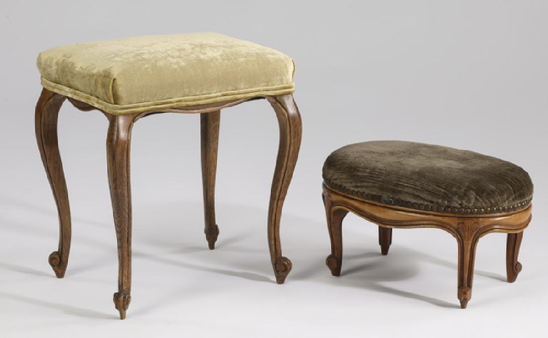 Group of (2) upholstered stools