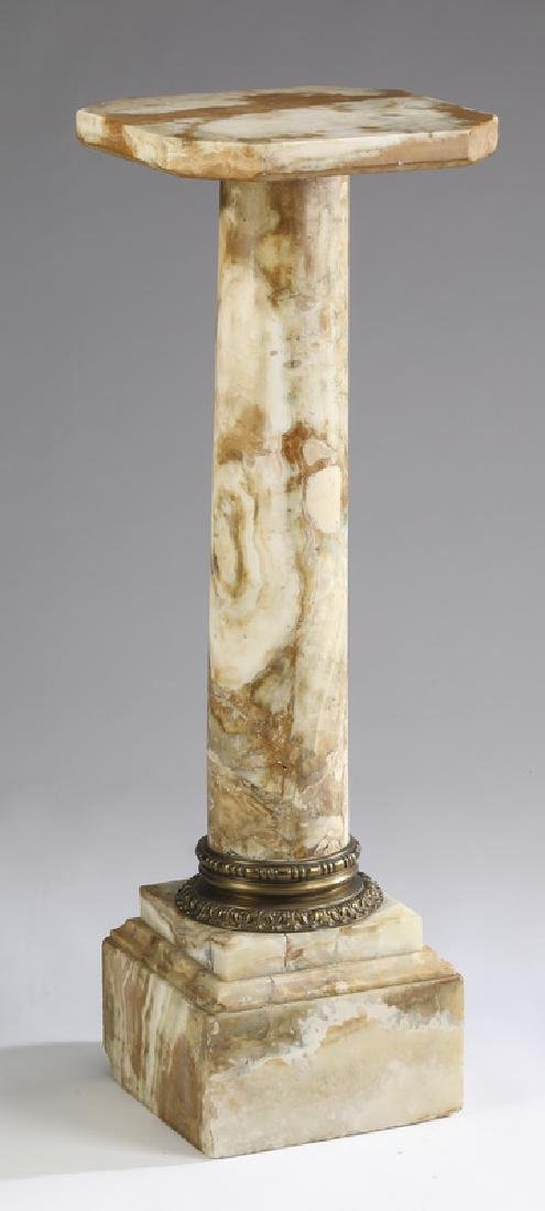 Neoclassical style onyx pedestal