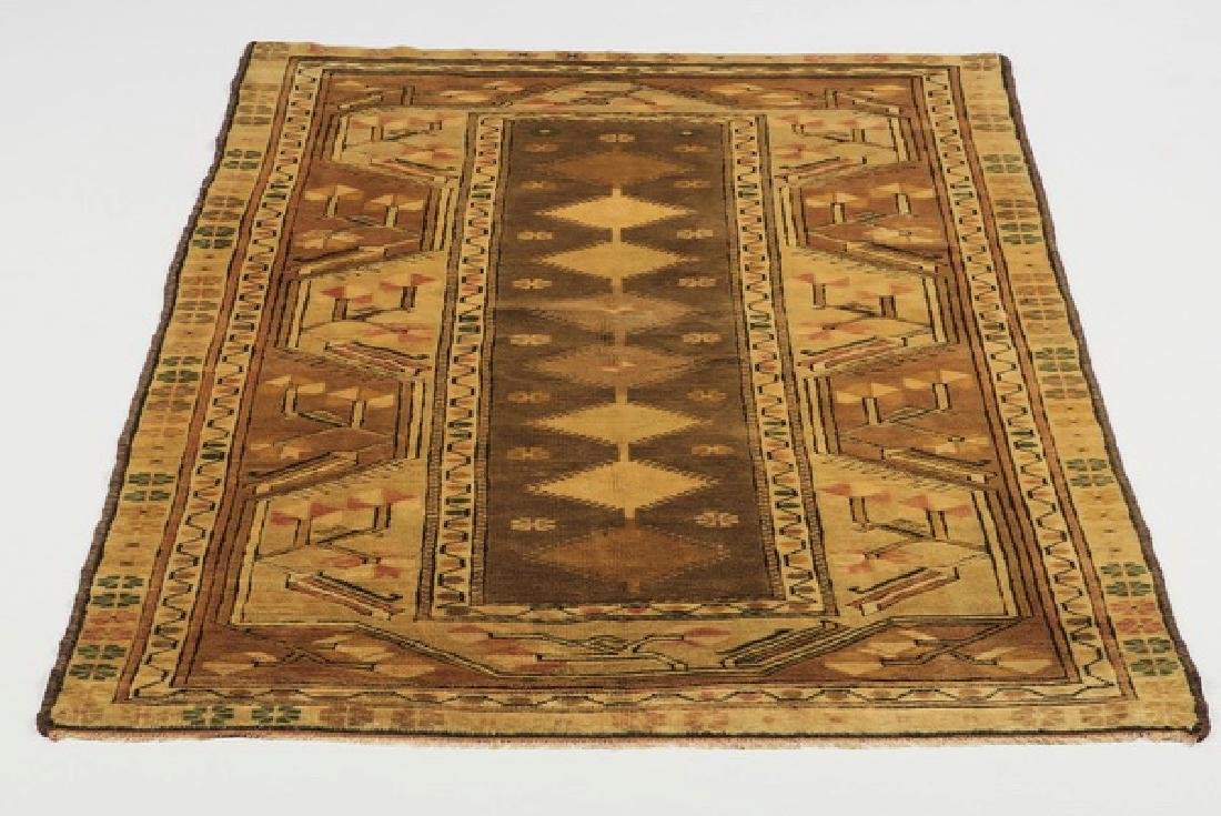 Hand knotted Turkish Milas wool rug, 4 x 6