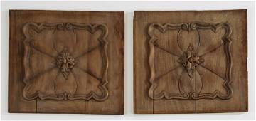 (2) Unfinished carved French architectural panels