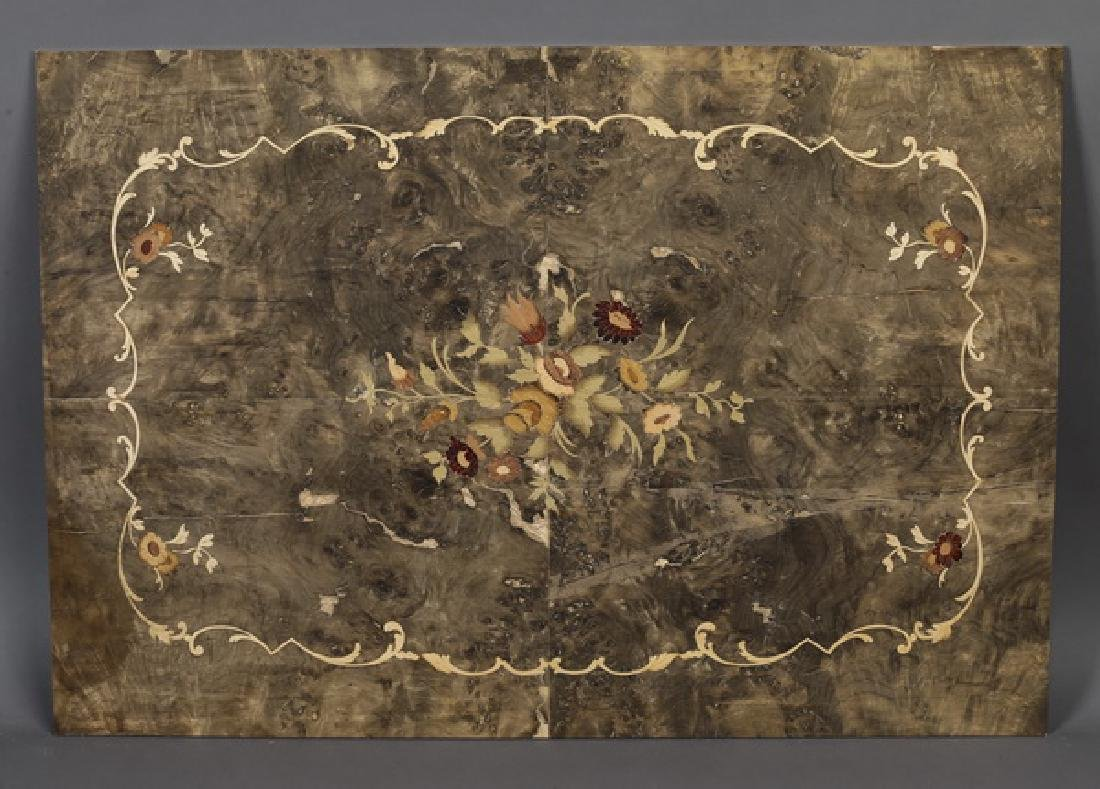 Italian floral marquetry inlaid panel