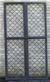 Brass and bronze latticework doors