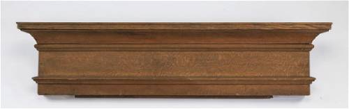 """Early 20th c. Federal style carved oak cornice, 54""""w"""