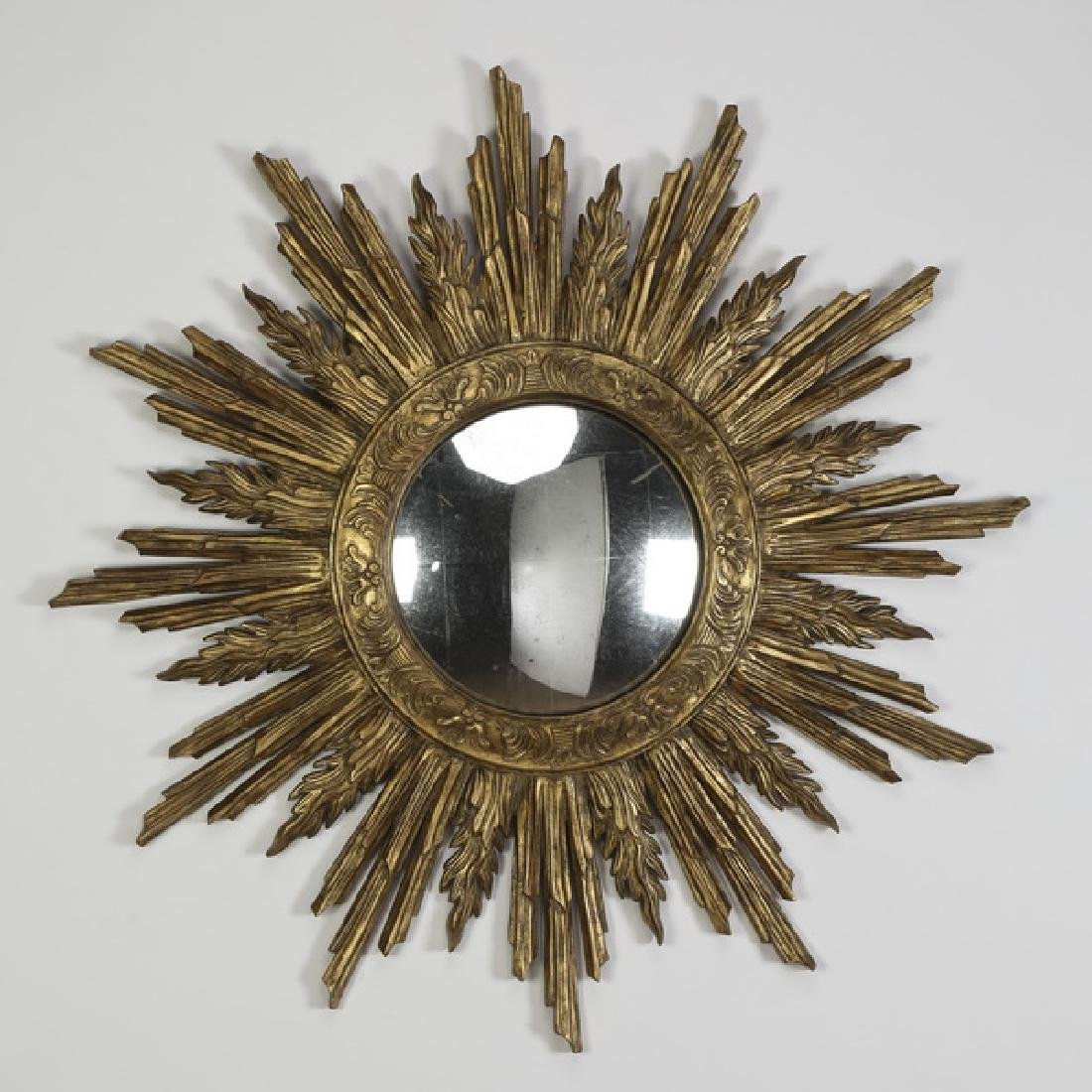 "Convex sunburst mirror by John Richards, 37""dia"