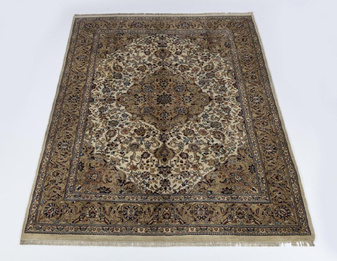 Indo-Tabriz hand knotted wool carpet, 9 x 12