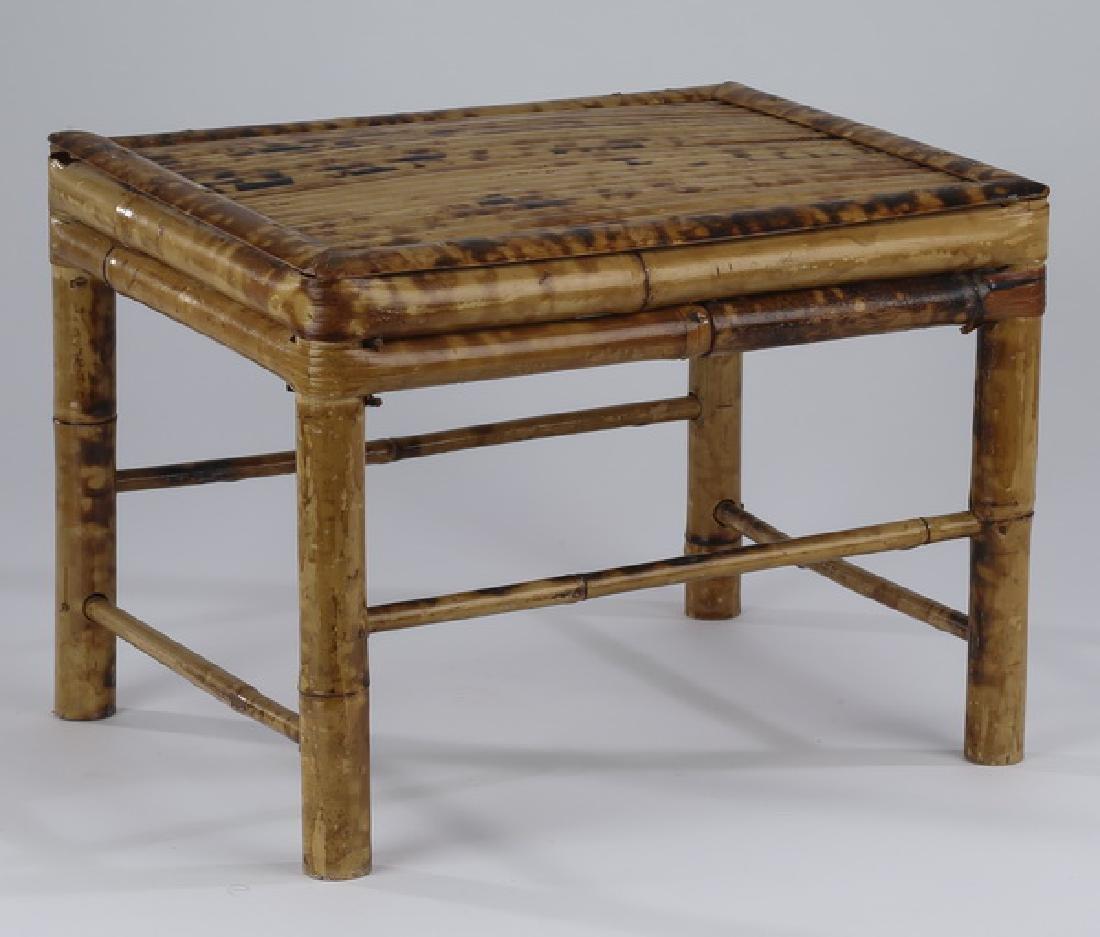 """Diminutive bamboo stool, 10""""h"""