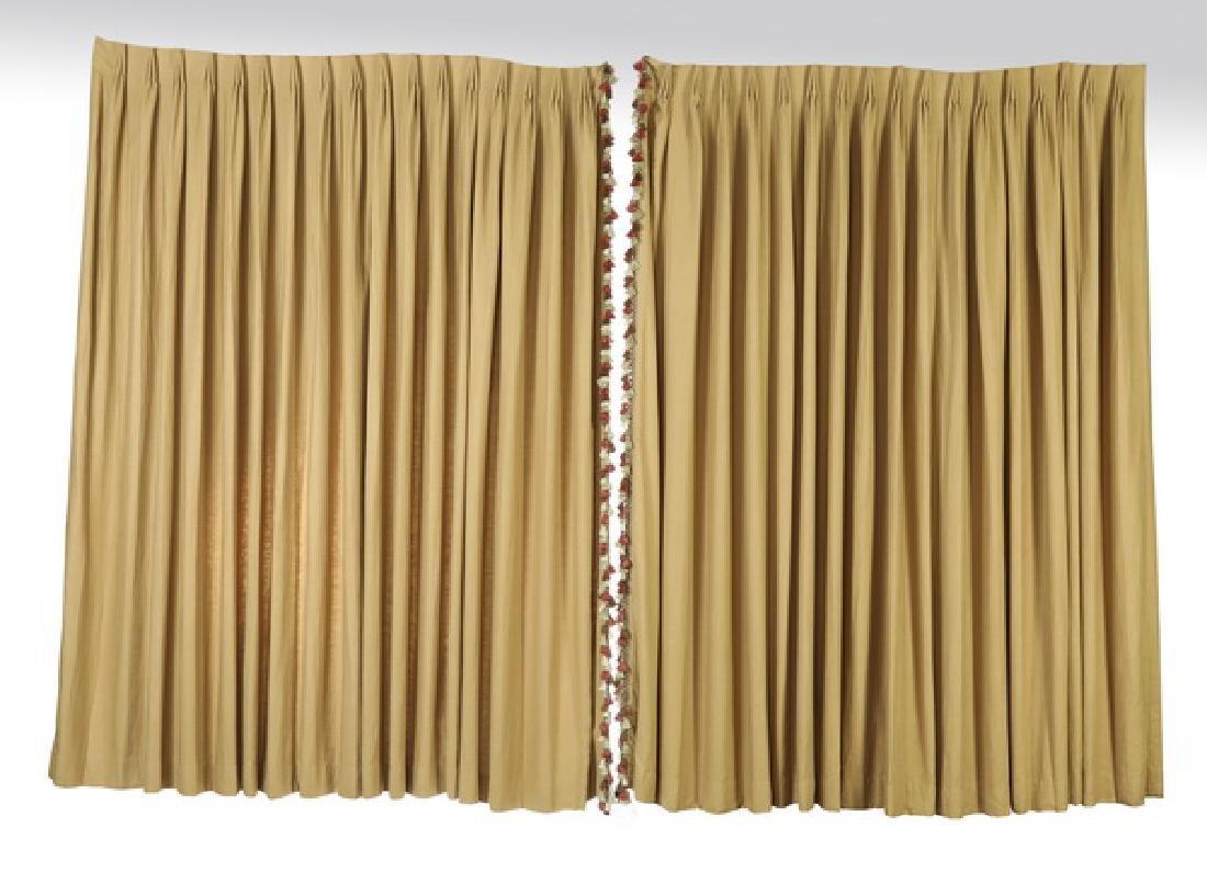 Custom linen drapes w/  tassel fringe