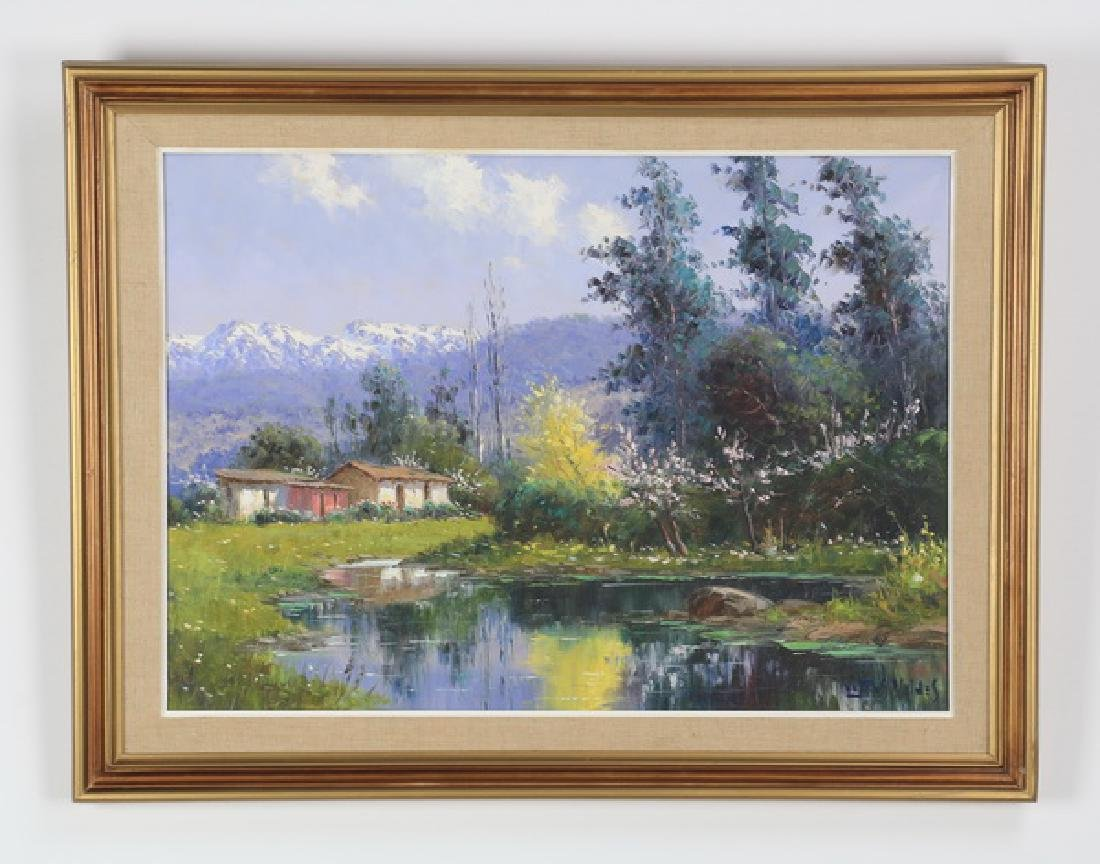"European School O/c landscape, 33""w"
