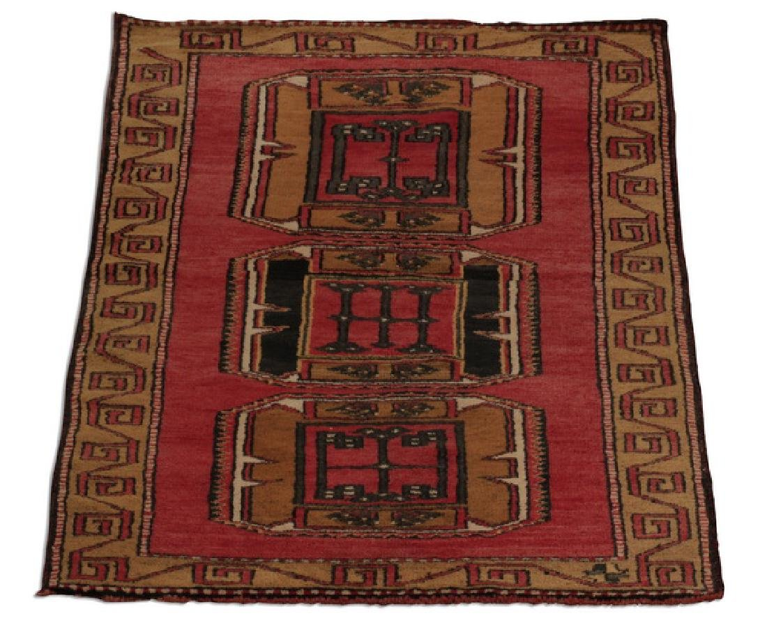 Hand knotted Turkish Oushak wool rug, 3 x 6