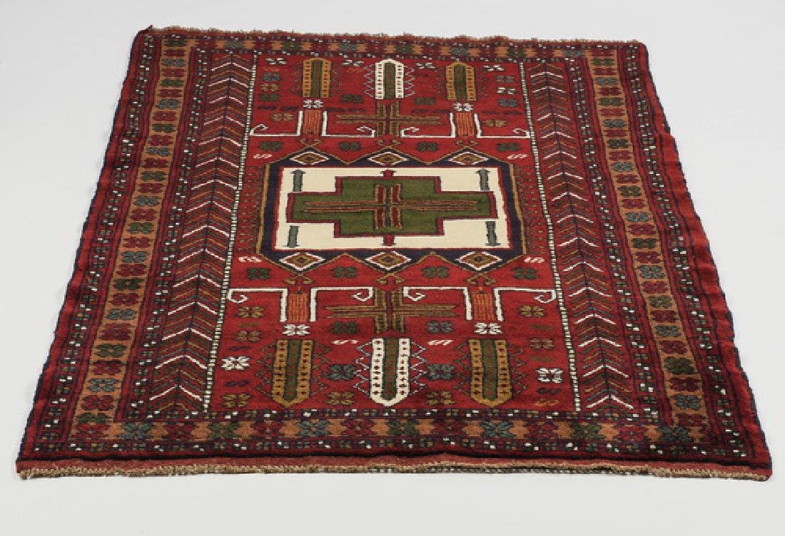 Hand knotted Kazak wool rug, 4 x 6