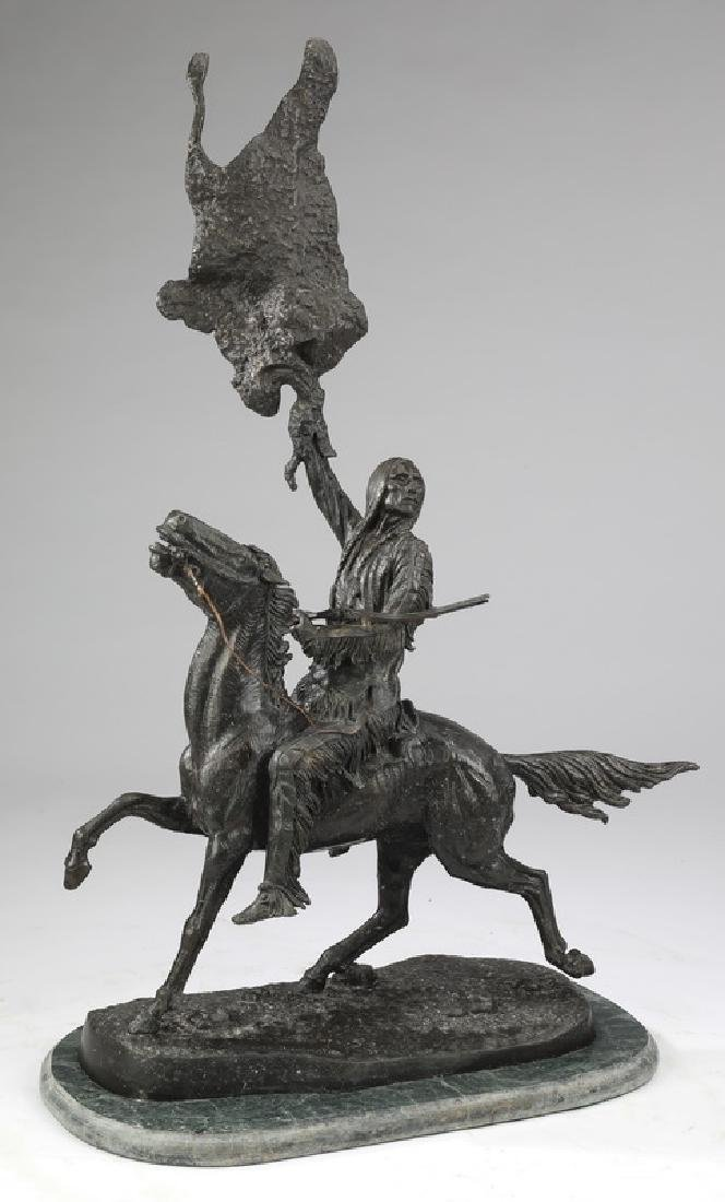 'Buffalo Signal,' bronze after Frederic Remington