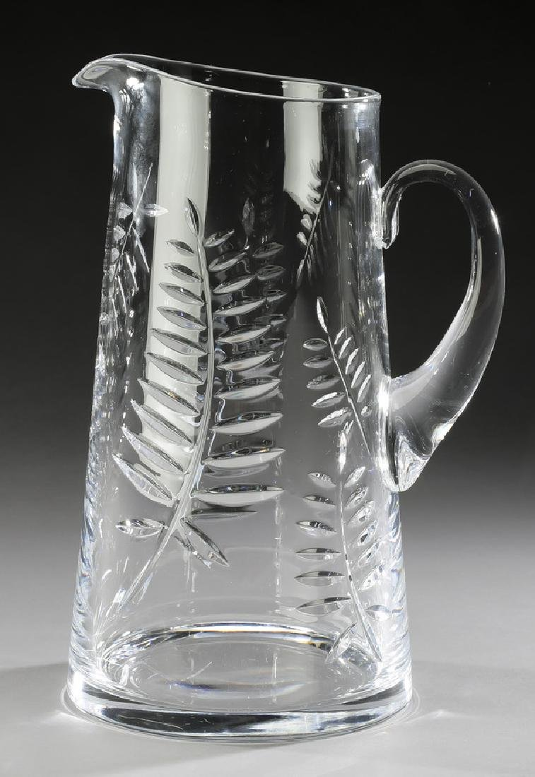 Tiffany & Co. crystal pitcher in cut fern motif