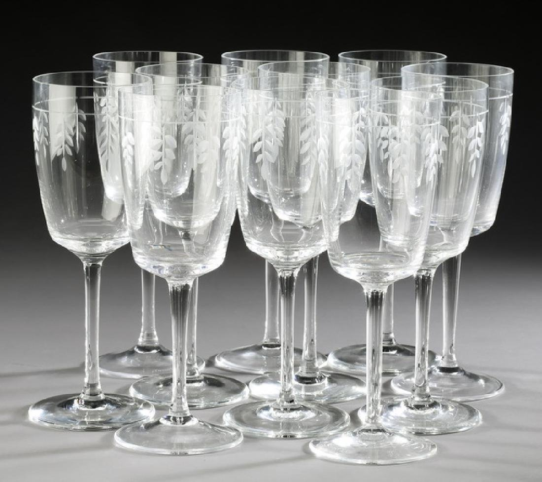 (11) Tiffany & Co 'Wisteria' red wine glasses