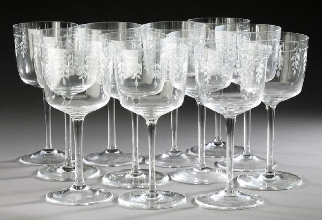 (12) Tiffany & Co 'Wisteria' white wine glasses