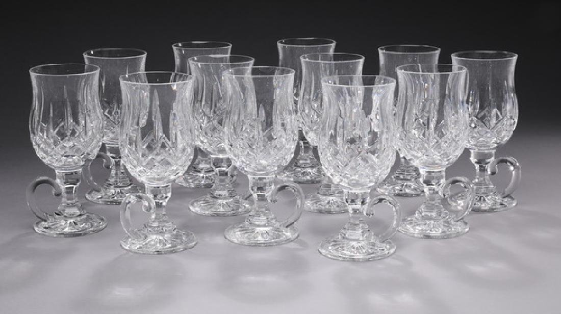 (12) Waterford crystal 'Lismore' Irish coffee cups