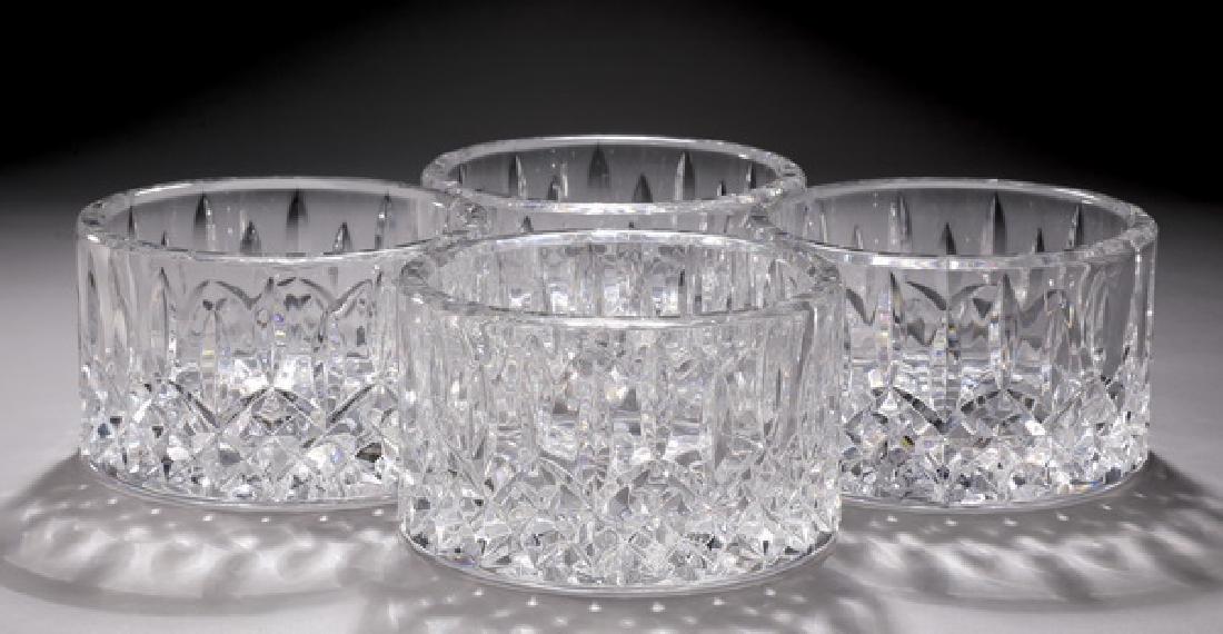 (4) Waterford crystal 'Lismore' wine bottle coasters