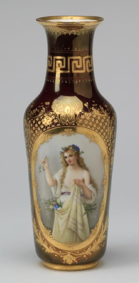 19th c. Royal Vienna portrait vase, marked
