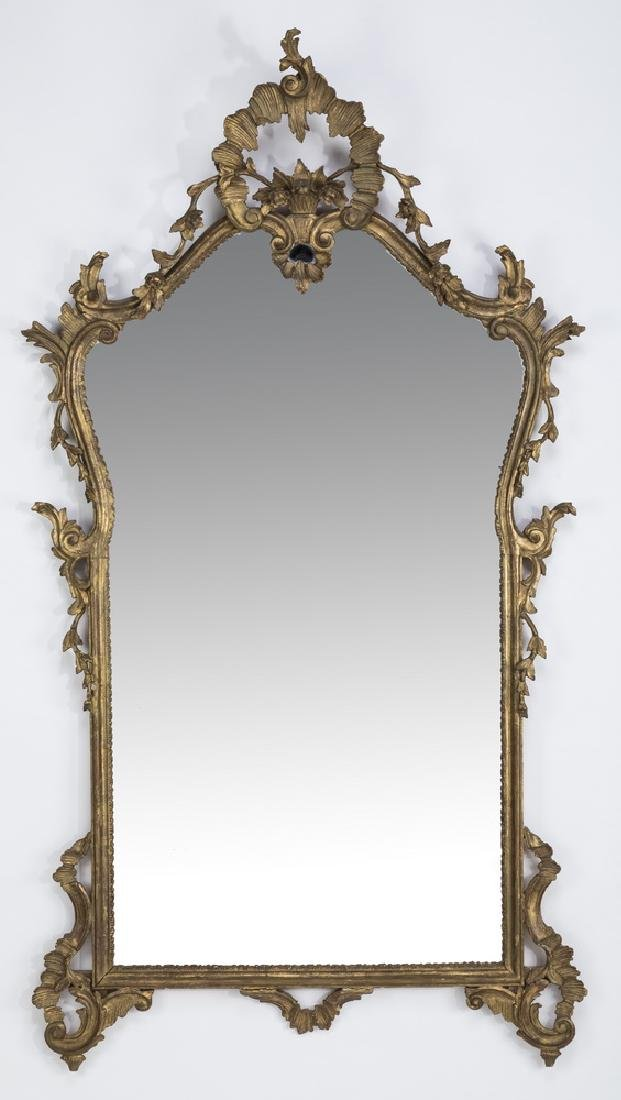 "Early 20th c. gilt wood and gesso mirror, 66""h"