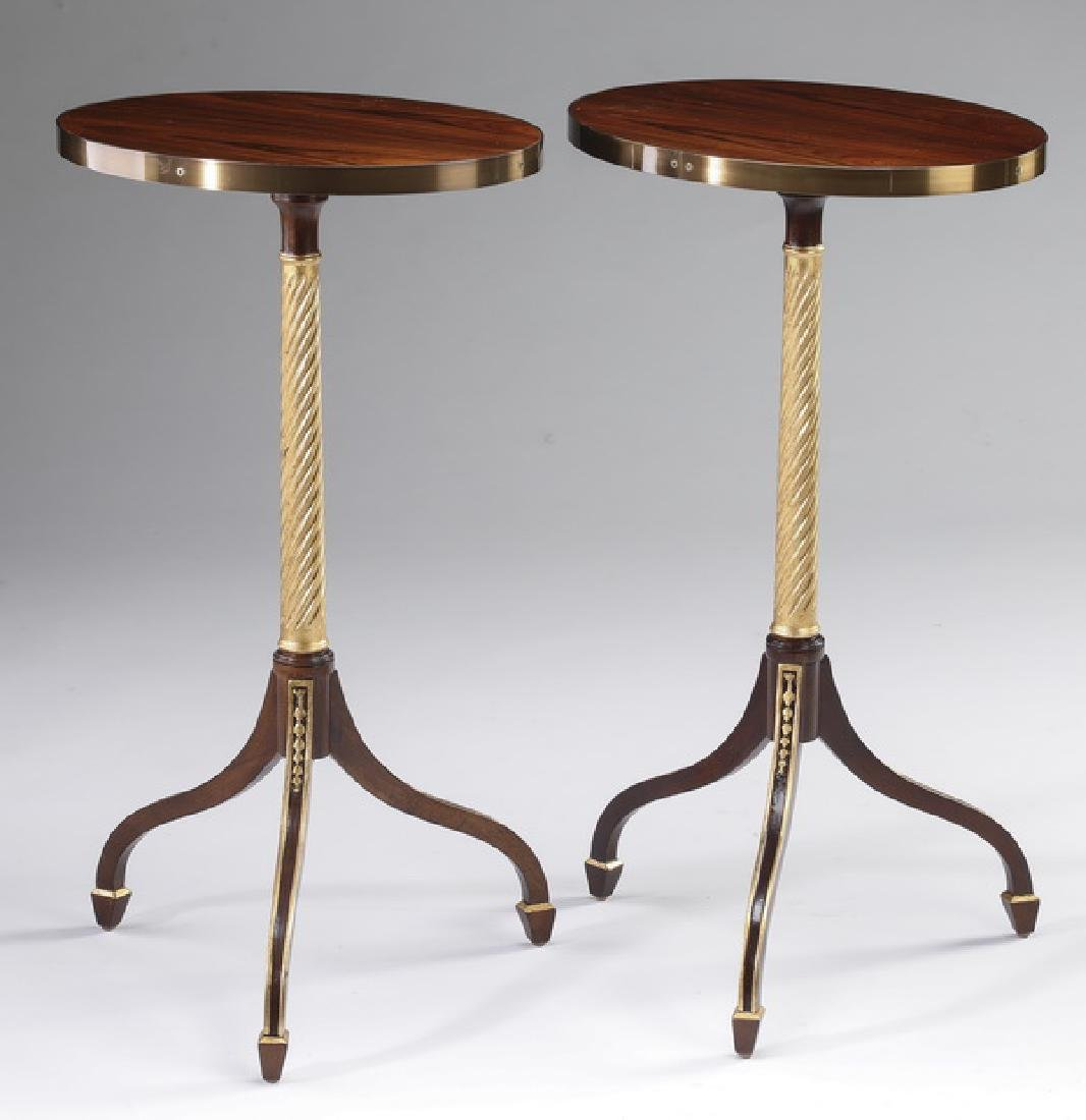 (2) Baker Empire style side tables
