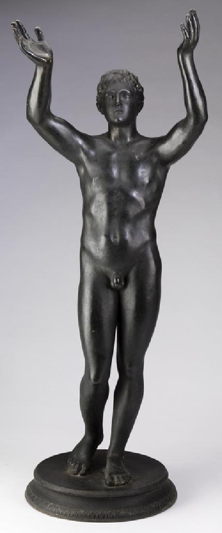 'Praying Boy of Rhodes' Grand Tour style bronze