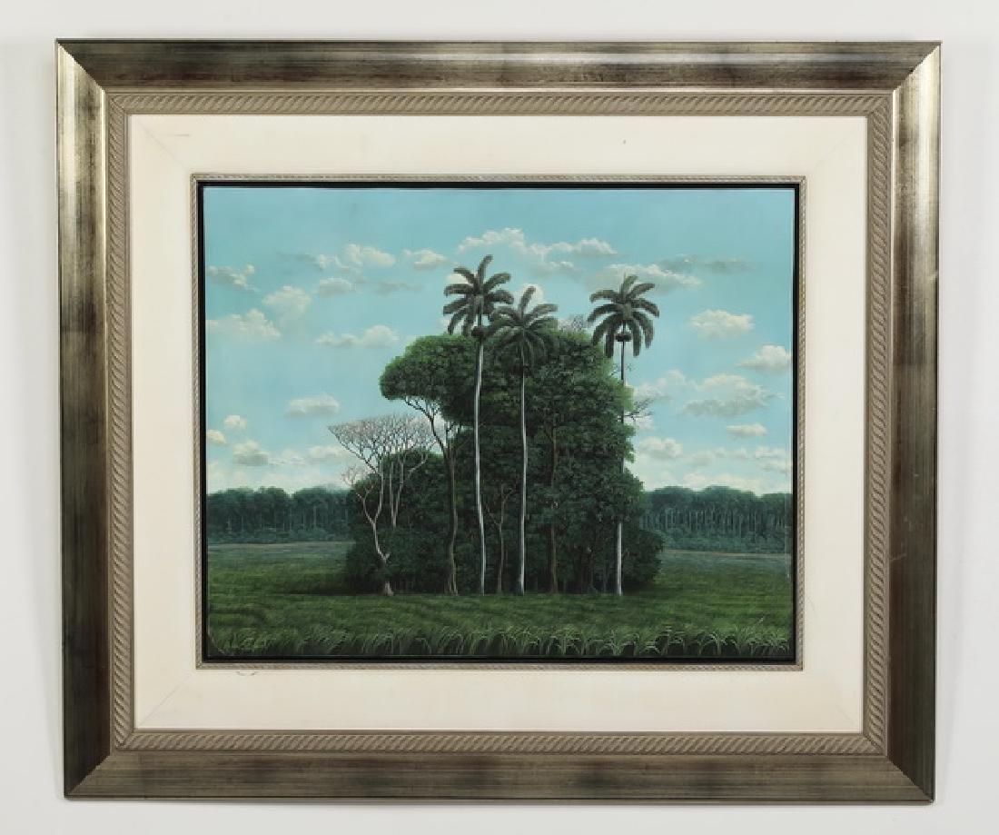 Ruben Berland (Cuban) signed acrylic on canvas