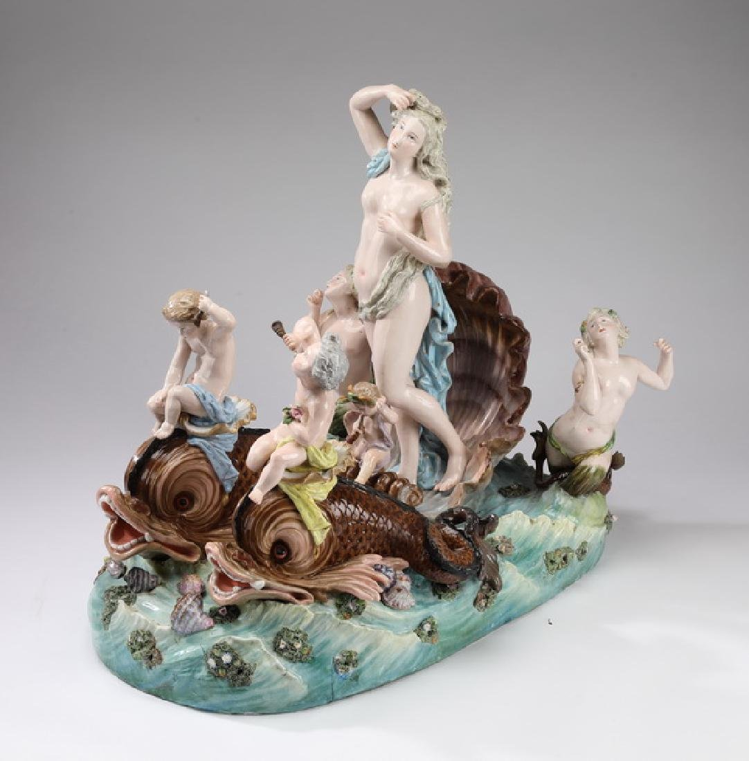 Monumental 19th c. Meissen porcelain grouping, marked
