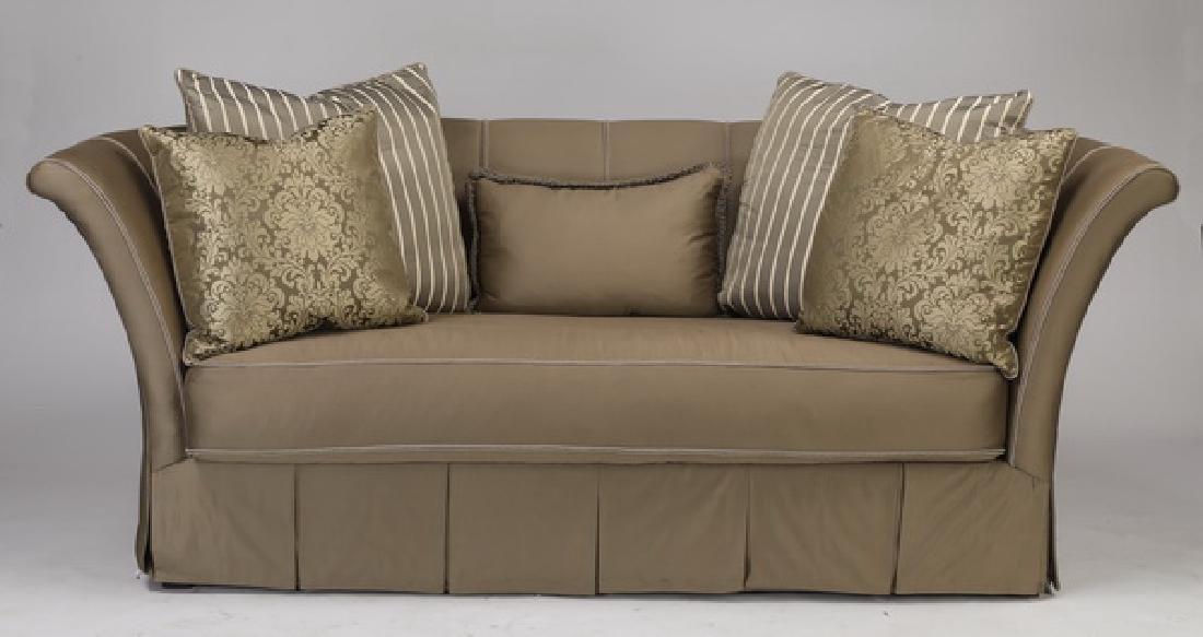 """Henredon silk upholstered 'Allure' sofa, 98""""w"""