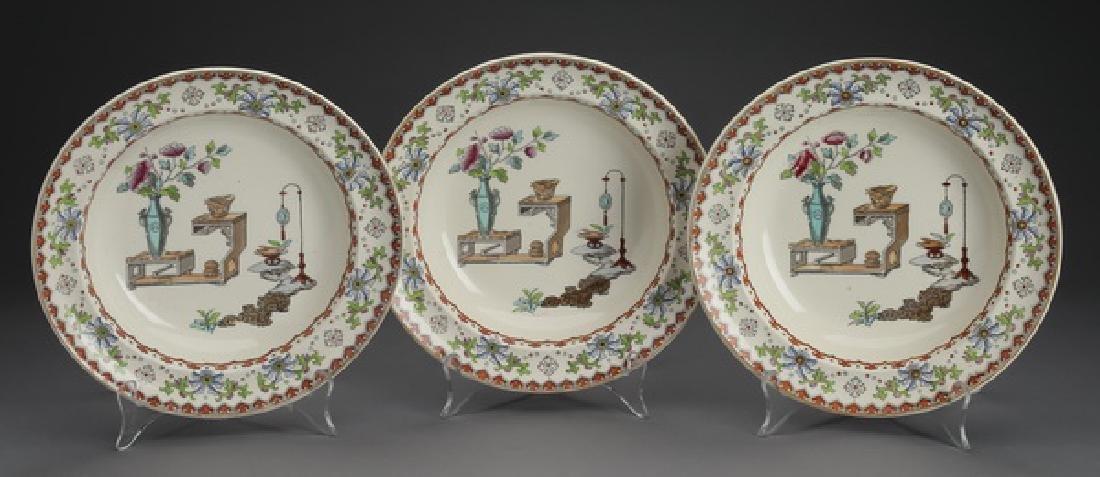 (3) 19th c. Copeland porcelain 'Canton' bowls