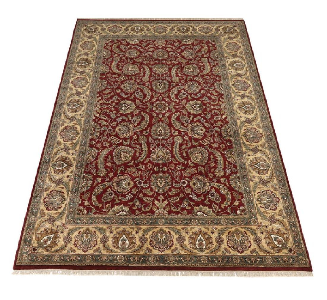 Hand knotted wool Indo-Sultanabad rug, 15 x 10